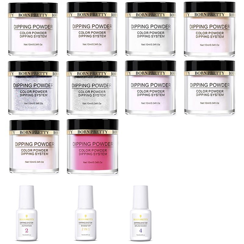 2X-BORN-PRETTY-Dipping-Powder-Gradient-French-Nail-Natural-Color-Holographi-V2D3 thumbnail 9