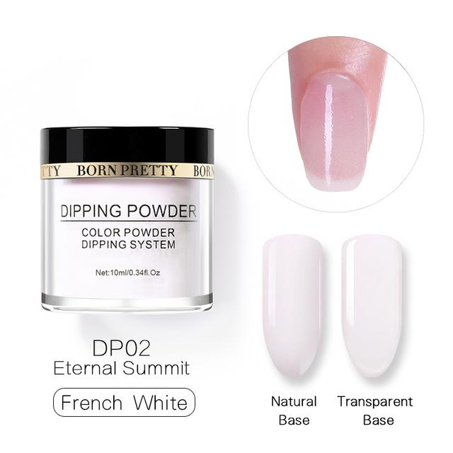 2X-BORN-PRETTY-Dipping-Powder-Gradient-French-Nail-Natural-Color-Holographi-V2D3 thumbnail 27