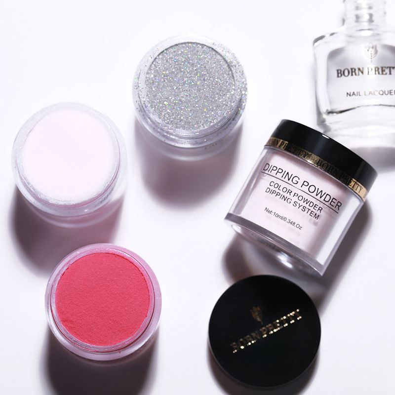 2X-BORN-PRETTY-Dipping-Powder-Gradient-French-Nail-Natural-Color-Holographi-V2D3 thumbnail 32