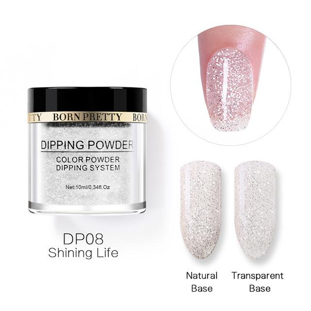 2X-BORN-PRETTY-Dipping-Powder-Gradient-French-Nail-Natural-Color-Holographi-V2D3 thumbnail 51