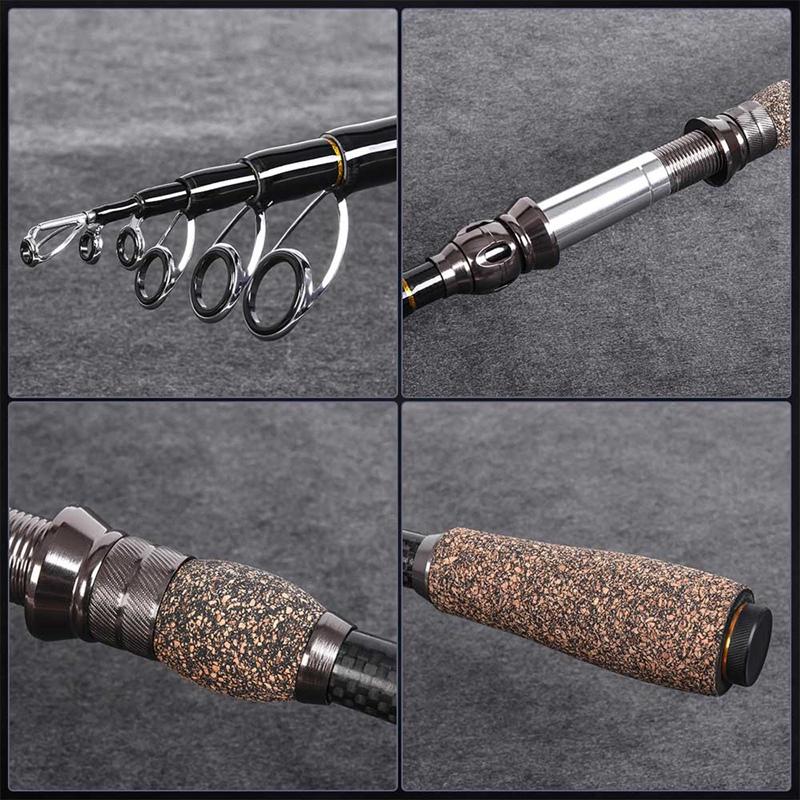 2X-LEO-Travel-Telescopic-Fishing-Rod-Superhard-Carbon-Fiber-Sea-Fishing-Rod-I1E8 thumbnail 6