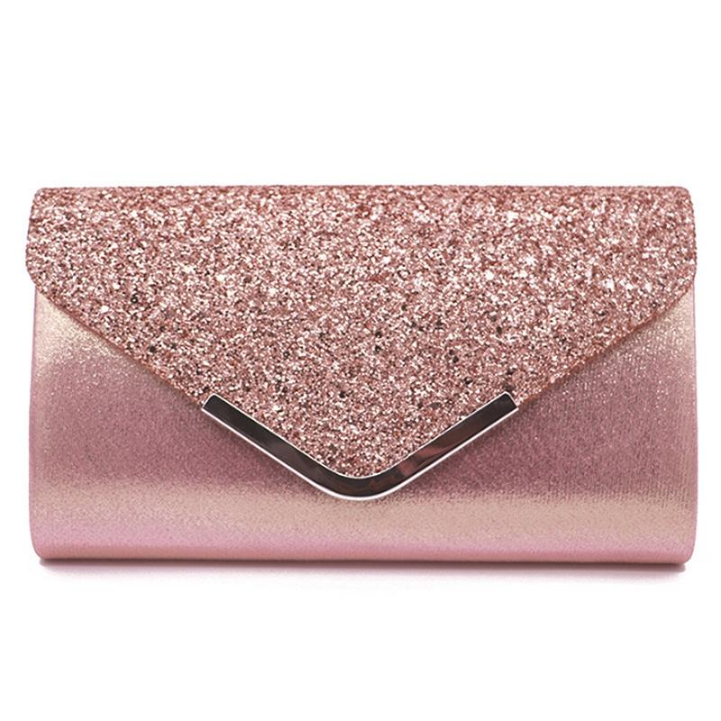 Women-Glittered-Envelope-Clutch-Purse-Evening-Bag-Lustrous-Party-Handbag-Shi-7J3 thumbnail 3