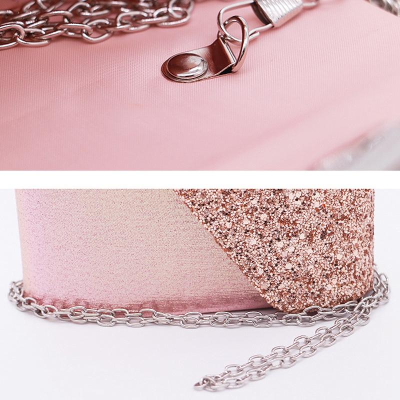 Women-Glittered-Envelope-Clutch-Purse-Evening-Bag-Lustrous-Party-Handbag-Shi-7J3 thumbnail 8