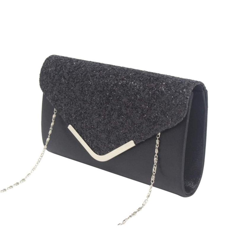 Women-Glittered-Envelope-Clutch-Purse-Evening-Bag-Lustrous-Party-Handbag-Shi-7J3 thumbnail 20
