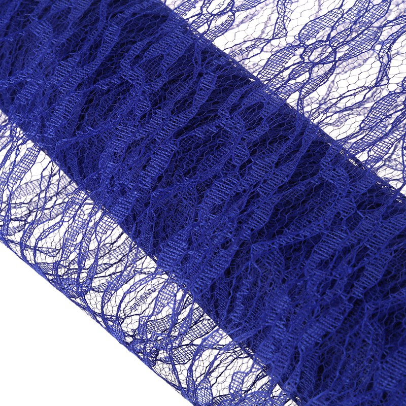 Lace Roll 30cm x 9metres Wedding Table Runner Chair Sash Vintage Decor Blue K3I2