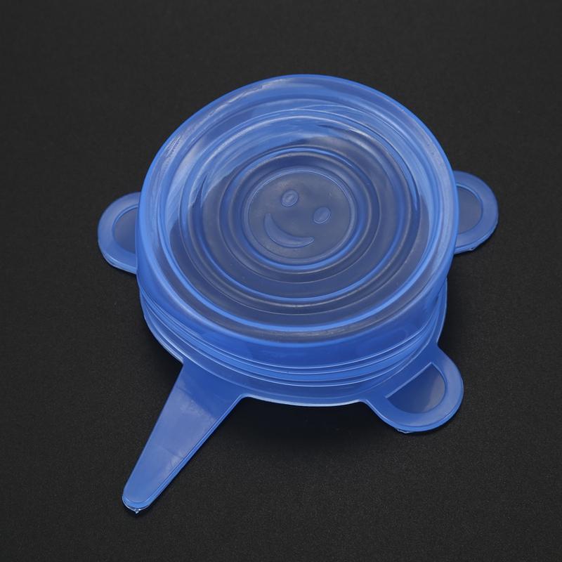 6-Piezas-Tapas-de-Estiramiento-de-Silicona-Envolturas-de-Alimentos-Frescos-F7M6 miniatura 7