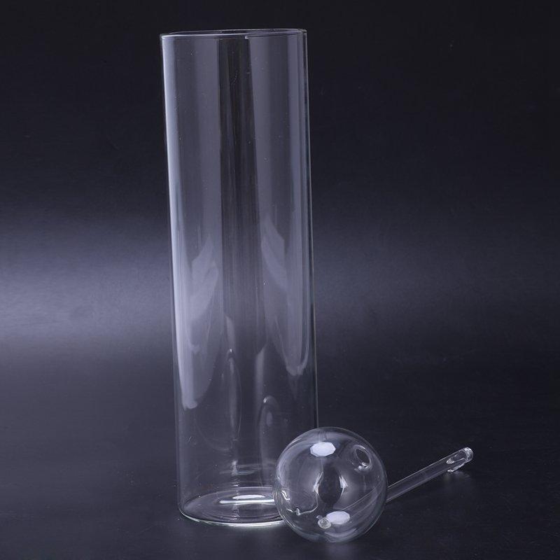 Lampe-A-Huile-En-Verre-Diner-Aux-Lueur-de-Chandelles-Bougeoirs-Cylindre-Tra-N1D1 miniature 3
