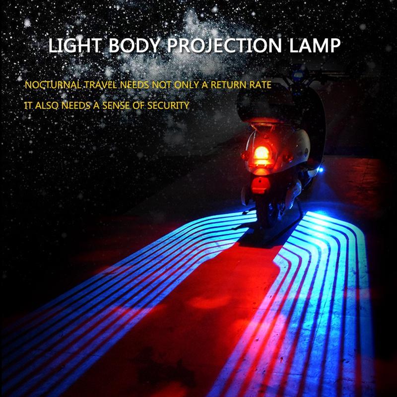 1X-2-Pcs-Projection-Chassis-Moto-Led-Lumieres-Decoratives-X6T5 miniature 5