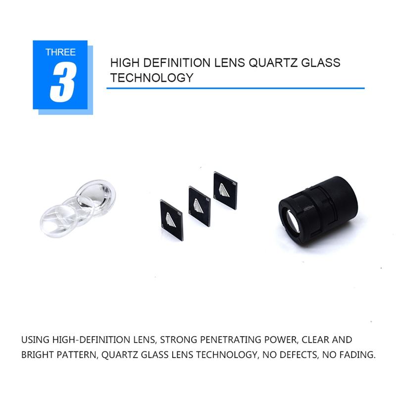 1X-2-Pcs-Projection-Chassis-Moto-Led-Lumieres-Decoratives-X6T5 miniature 9