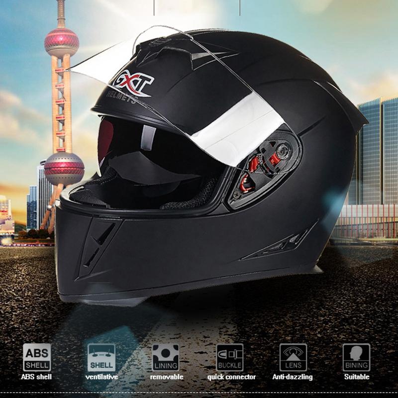 GXT-358-Full-Face-Helmets-Winter-Warm-Double-Visor-Motorcycle-Helmet-Helmet-T0Z5 thumbnail 3