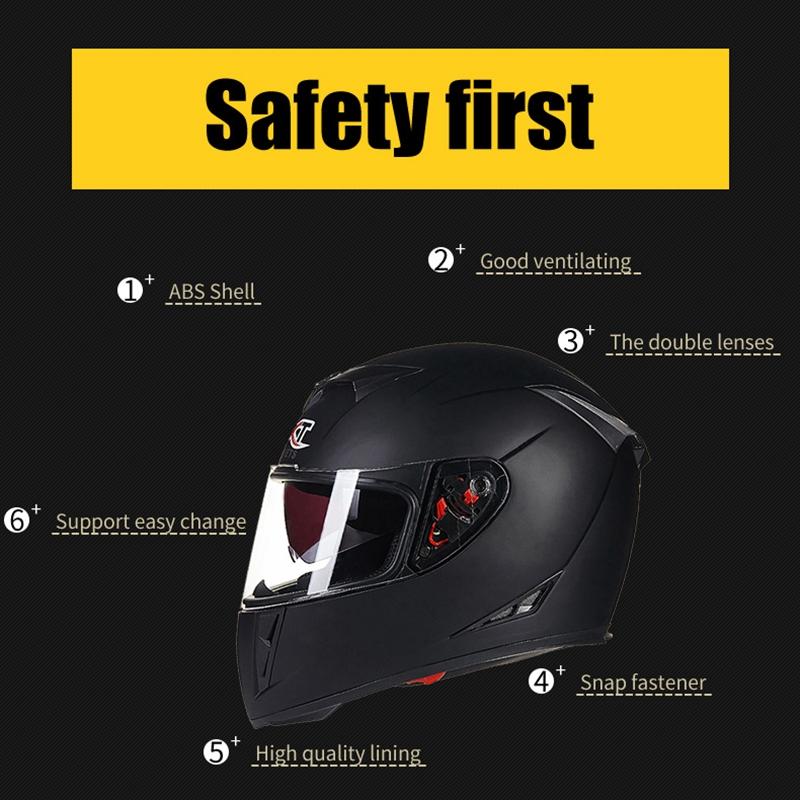 GXT-358-Full-Face-Helmets-Winter-Warm-Double-Visor-Motorcycle-Helmet-Helmet-T0Z5 thumbnail 4