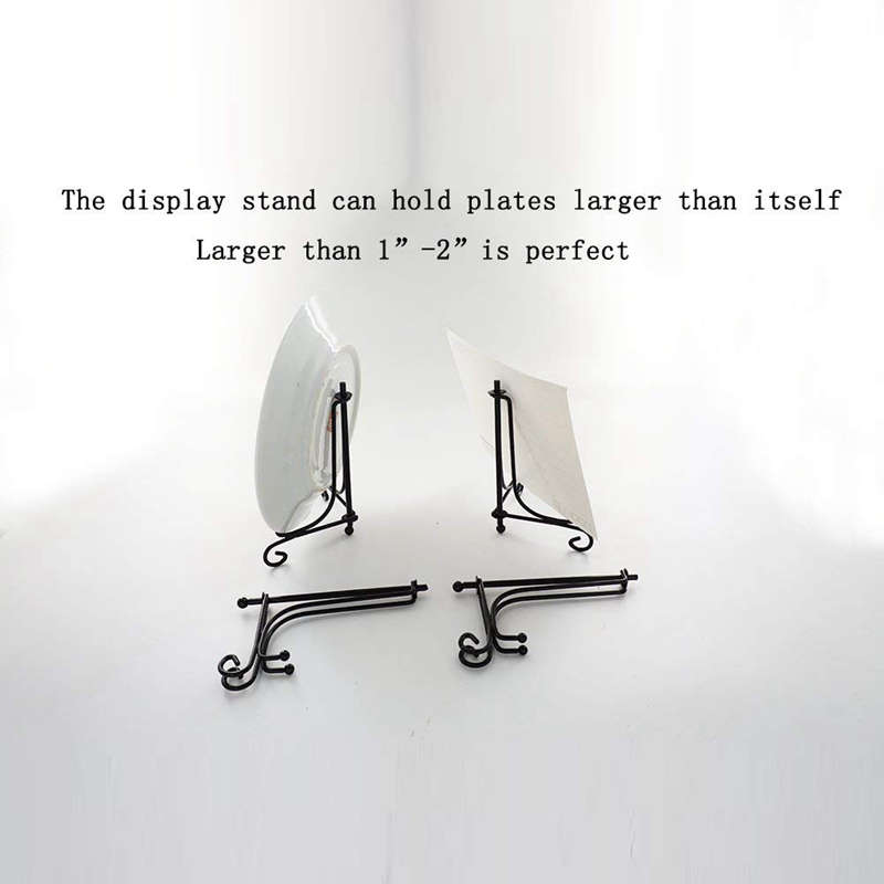 2-Pack-Iron-Display-Stand-Black-Iron-Easel-Plate-Display-Photo-Holder-O6N9 thumbnail 6