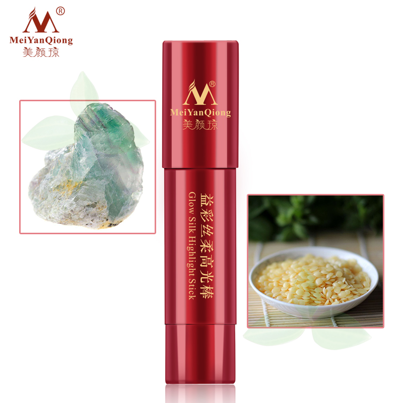 1X-MeiYanQiong-Lueur-Soie-Surligner-Le-Baton-Facile-A-Porter-Blanchiment-3D-R1L3 miniature 4