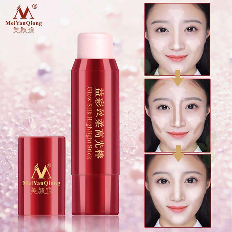 1X-MeiYanQiong-Lueur-Soie-Surligner-Le-Baton-Facile-A-Porter-Blanchiment-3D-R1L3 miniature 5