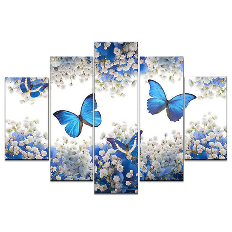 Diy Full Square Diamond Painting Butterfly MultiPicture Combination Embroi V2Q8