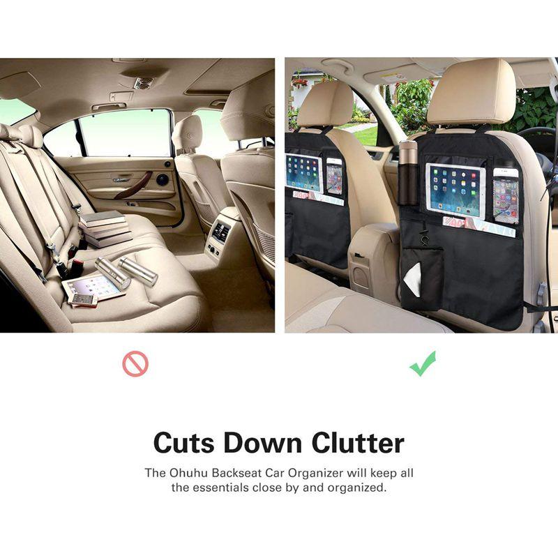 Wagen Sie-Premium Car Seat Protector-Kick-Matten schwarz, Packung mit 2