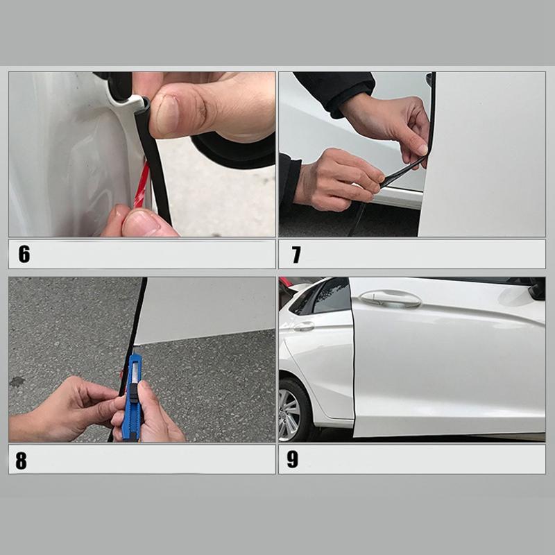 2X-Protector-De-Parachoques-Tira-De-Puerta-Auto-Anticolision-Del-Sello-Del-G9L6 miniatura 11