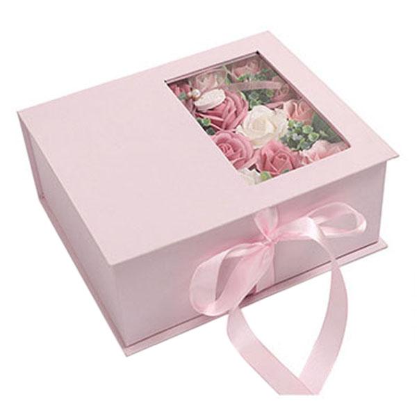 Jabon-Perfumado-Rosa-Artificial-Caja-De-Regalo-Rosa-Angel-De-Bano-Boda-Cum-C9N5 miniatura 3