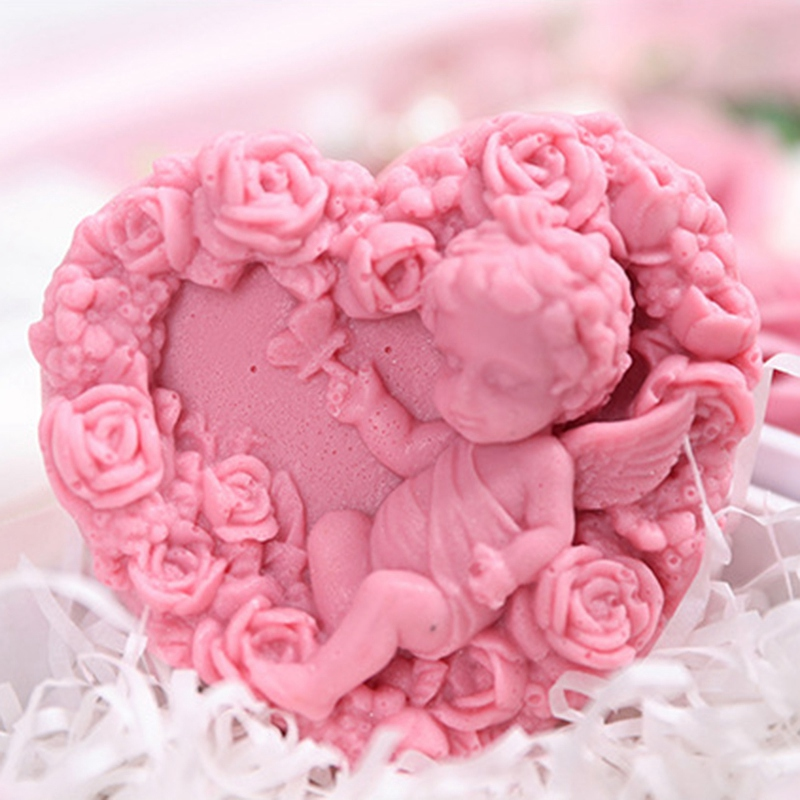 Jabon-Perfumado-Rosa-Artificial-Caja-De-Regalo-Rosa-Angel-De-Bano-Boda-Cum-C9N5 miniatura 6
