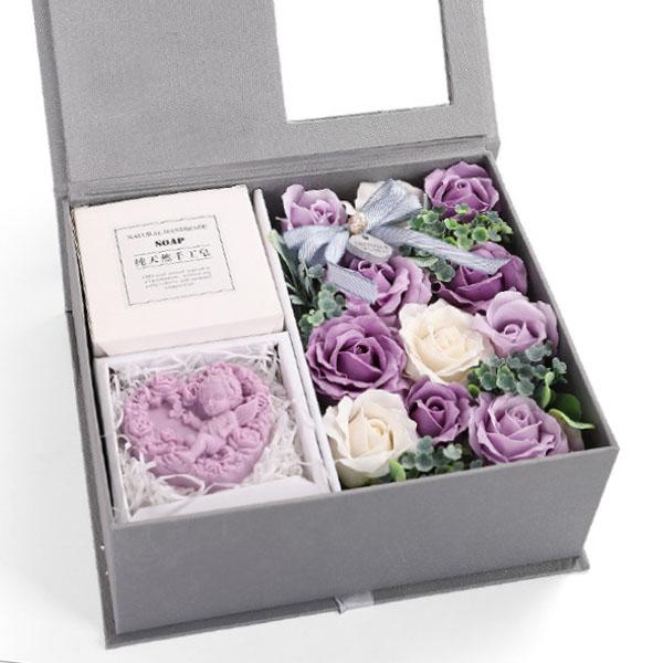 Jabon-Perfumado-Rosa-Artificial-Caja-De-Regalo-Rosa-Angel-De-Bano-Boda-Cum-C9N5 miniatura 10