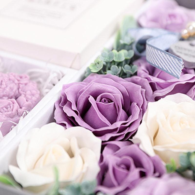 Jabon-Perfumado-Rosa-Artificial-Caja-De-Regalo-Rosa-Angel-De-Bano-Boda-Cum-C9N5 miniatura 13
