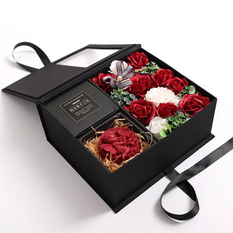 Jabon-Perfumado-Rosa-Artificial-Caja-De-Regalo-Rosa-Angel-De-Bano-Boda-Cum-C9N5 miniatura 15