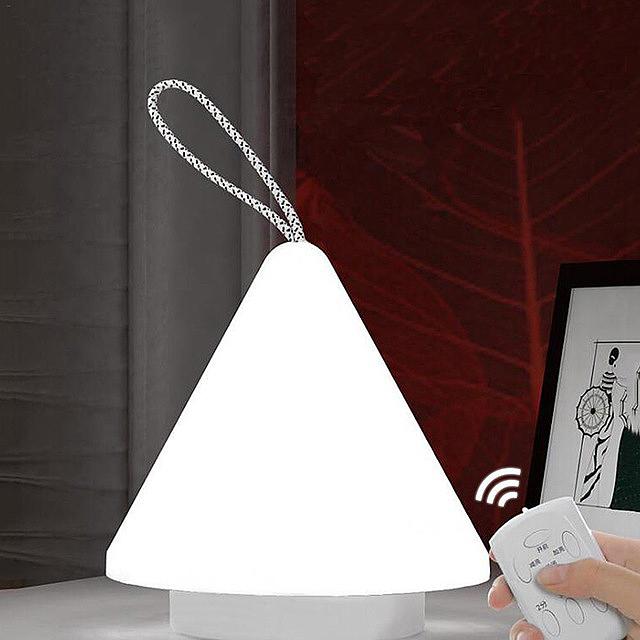 2X-Led-10-Level-Dimming-Night-Light-Remote-Control-Rechargeable-Portable-Li-L6T9 thumbnail 4