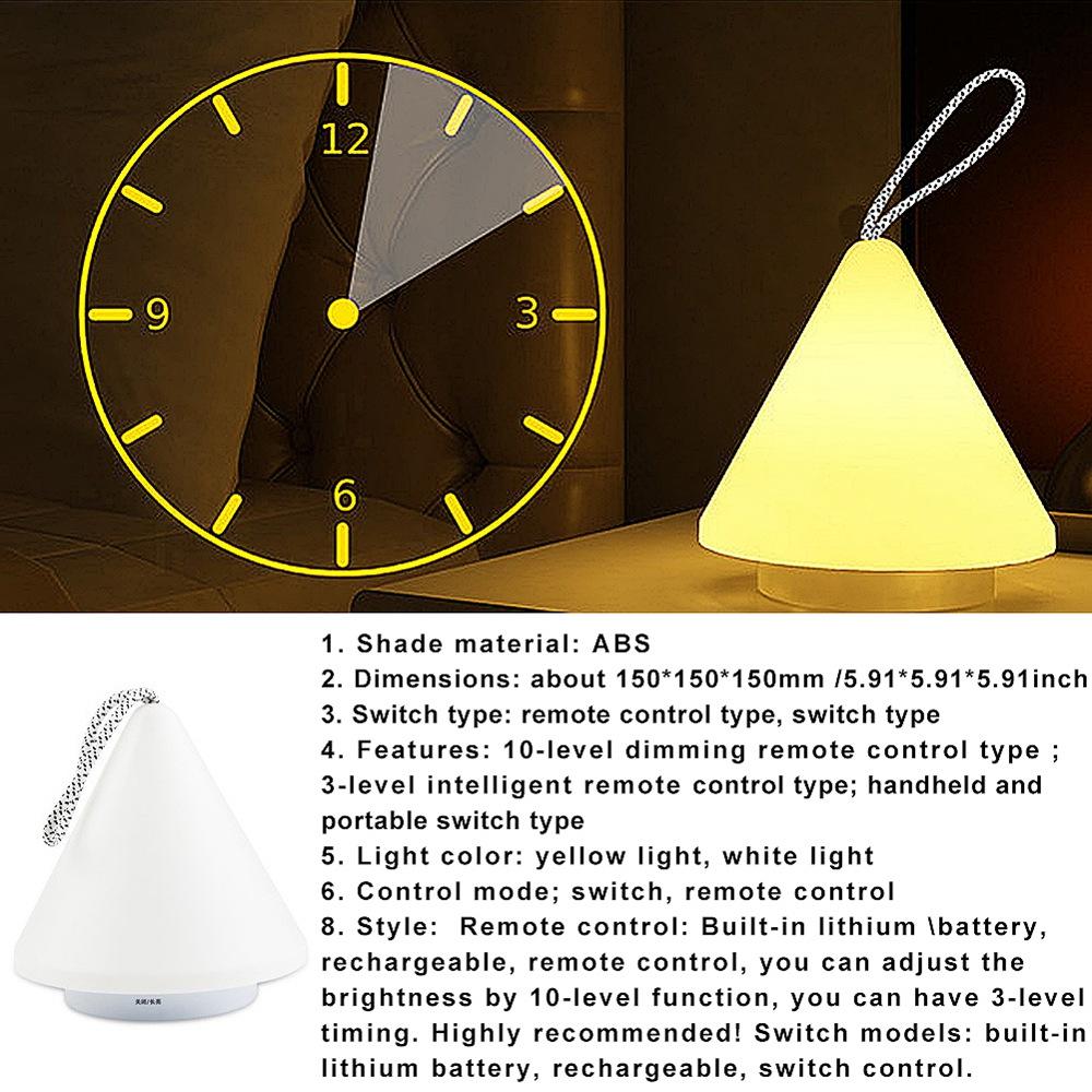 2X-Led-10-Level-Dimming-Night-Light-Remote-Control-Rechargeable-Portable-Li-L6T9 thumbnail 10