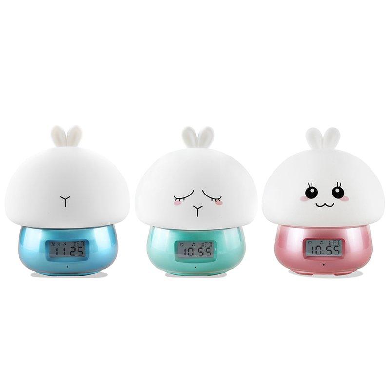 5X (USB Recargable Luz de Noche LED Lámpara de noche de Silicona Conejo multifuncti Q1Y8)