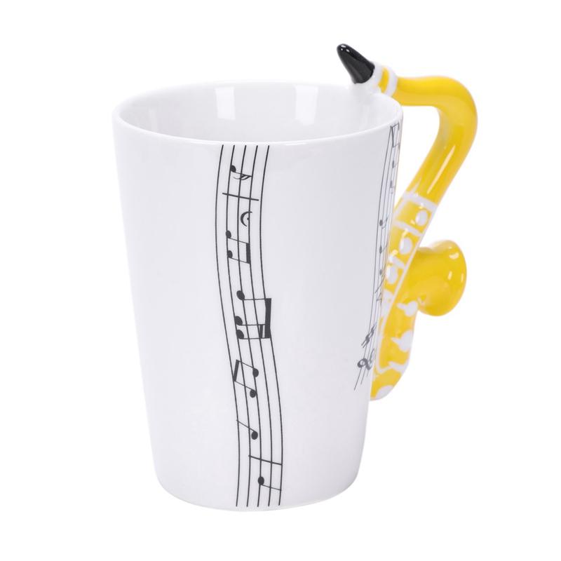 Saxofon-Ceramica-Tazas-De-Cafe-Taza-De-Leche-De-Porcelana-Tazas-De-Te-Notas-I4Q5 miniatura 3