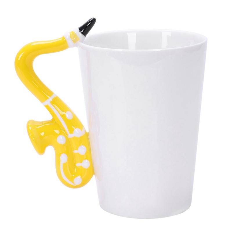 Saxofon-Ceramica-Tazas-De-Cafe-Taza-De-Leche-De-Porcelana-Tazas-De-Te-Notas-I4Q5 miniatura 5