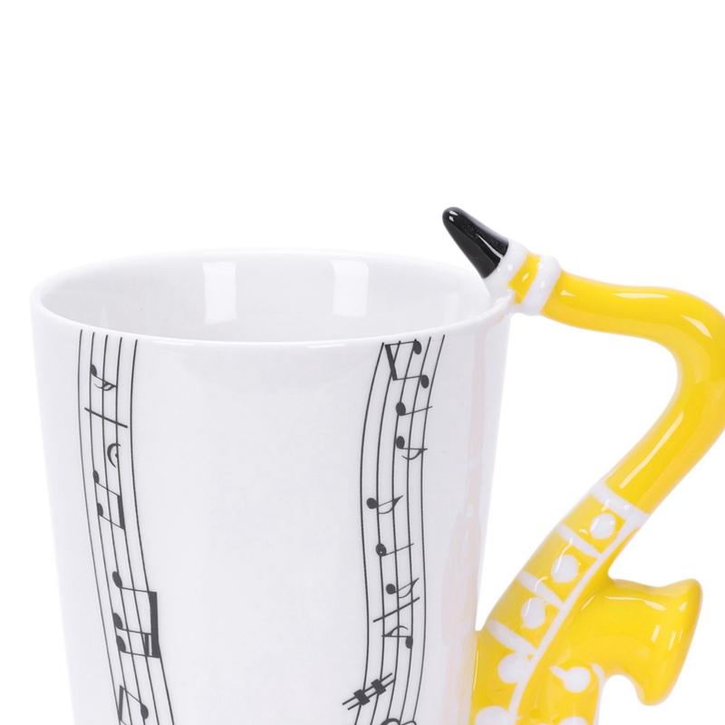 Saxofon-Ceramica-Tazas-De-Cafe-Taza-De-Leche-De-Porcelana-Tazas-De-Te-Notas-I4Q5 miniatura 8