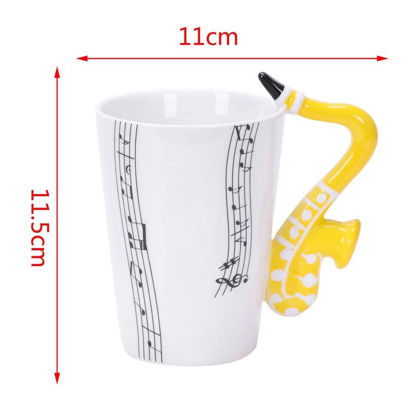 Saxofon-Ceramica-Tazas-De-Cafe-Taza-De-Leche-De-Porcelana-Tazas-De-Te-Notas-I4Q5 miniatura 9
