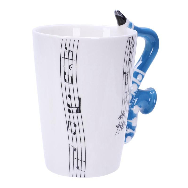 Saxofon-Ceramica-Tazas-De-Cafe-Taza-De-Leche-De-Porcelana-Tazas-De-Te-Notas-I4Q5 miniatura 13