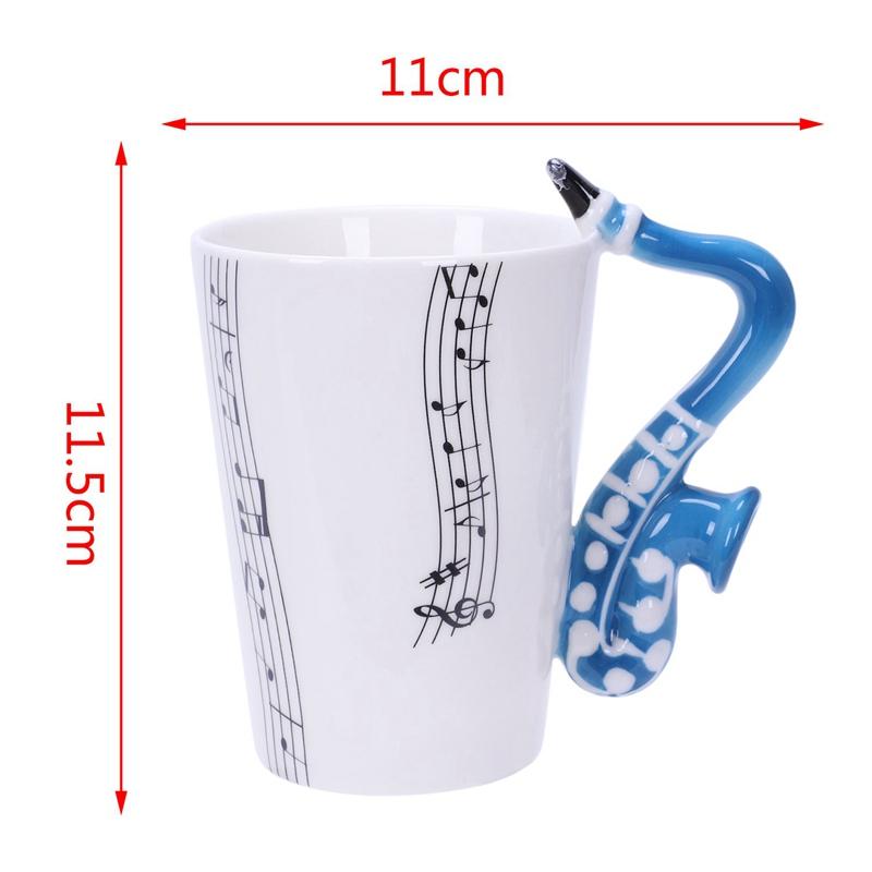 Saxofon-Ceramica-Tazas-De-Cafe-Taza-De-Leche-De-Porcelana-Tazas-De-Te-Notas-I4Q5 miniatura 19
