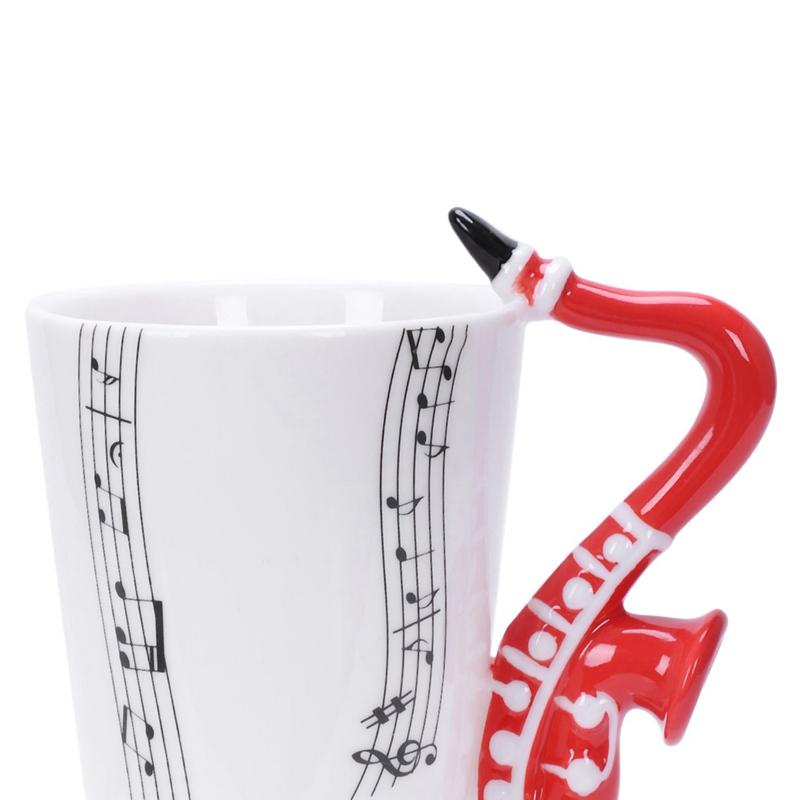 2X-Saxophon-Keramik-Kaffee-Tassen-Porzellan-Milch-Becher-Tee-Schalen-Musik-W5C6 Indexbild 23