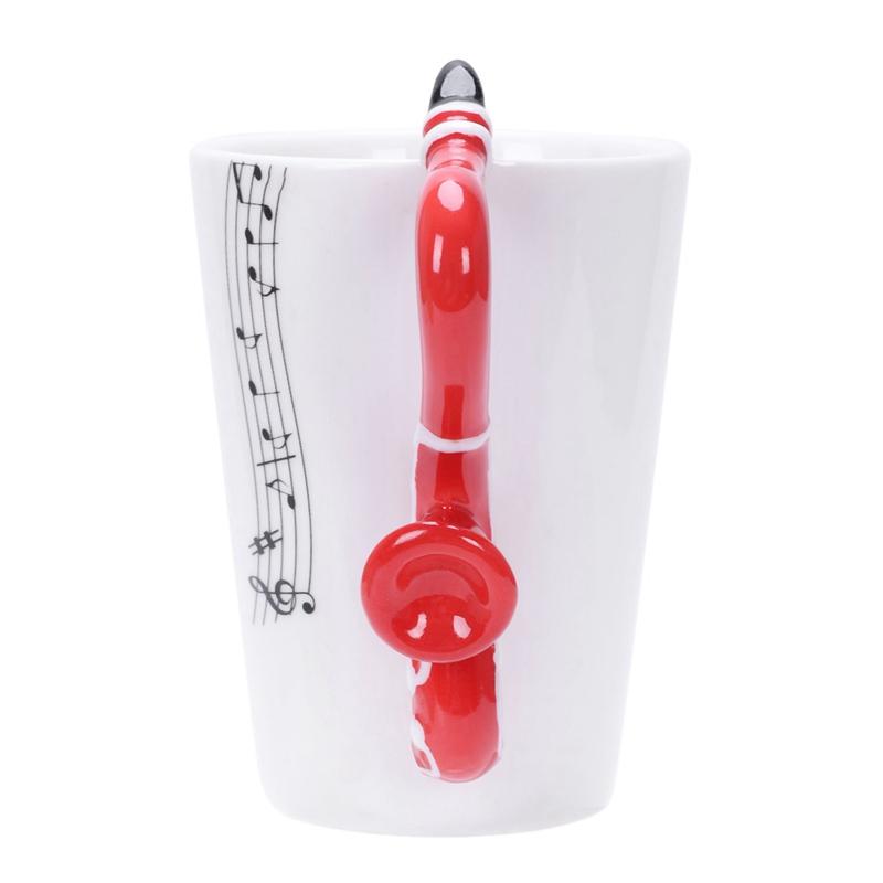 2X-Saxophon-Keramik-Kaffee-Tassen-Porzellan-Milch-Becher-Tee-Schalen-Musik-W5C6 Indexbild 26
