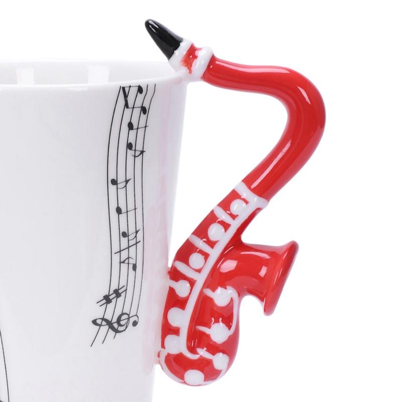 2X-Saxophon-Keramik-Kaffee-Tassen-Porzellan-Milch-Becher-Tee-Schalen-Musik-W5C6 Indexbild 28
