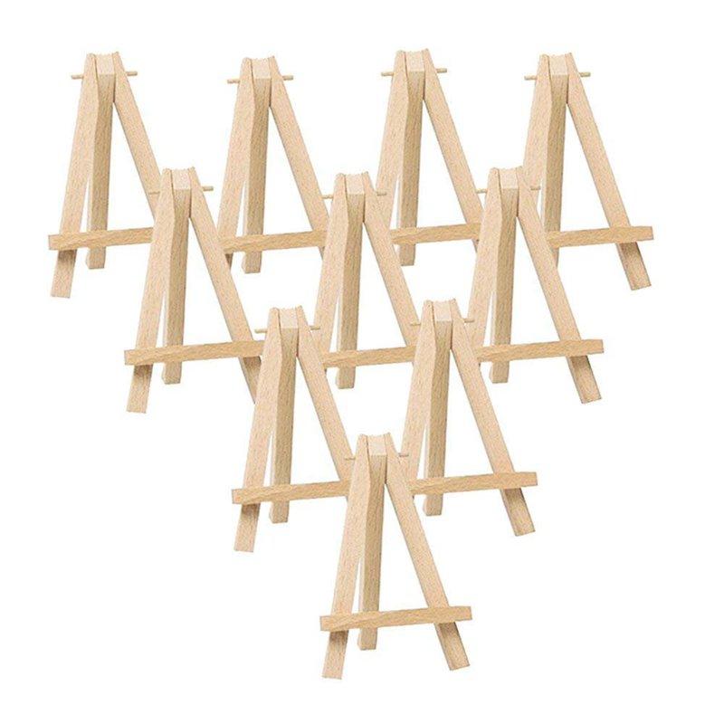 Mini Holz Staffelei Visitenkarte Display verwendet f/ür Hochzeit 10 Geschenkb/ögen Geburtstagsdekoration 10 Mini Dreieck Holz Display St/änder