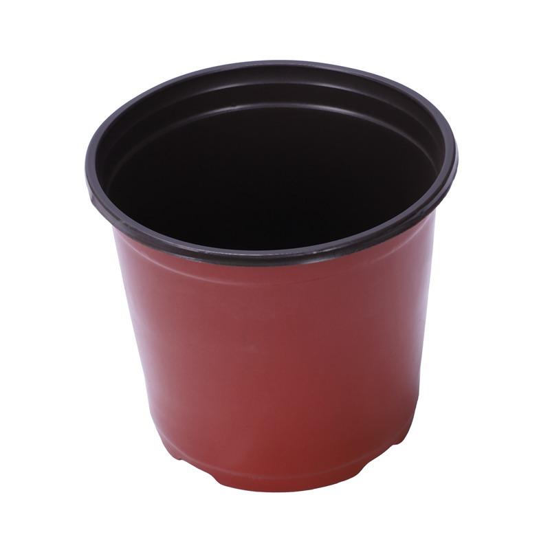 50Pcs/Set Dual Color Plastic Nursery Pots Flowerpot Planter Grow Seeding Po J8C3