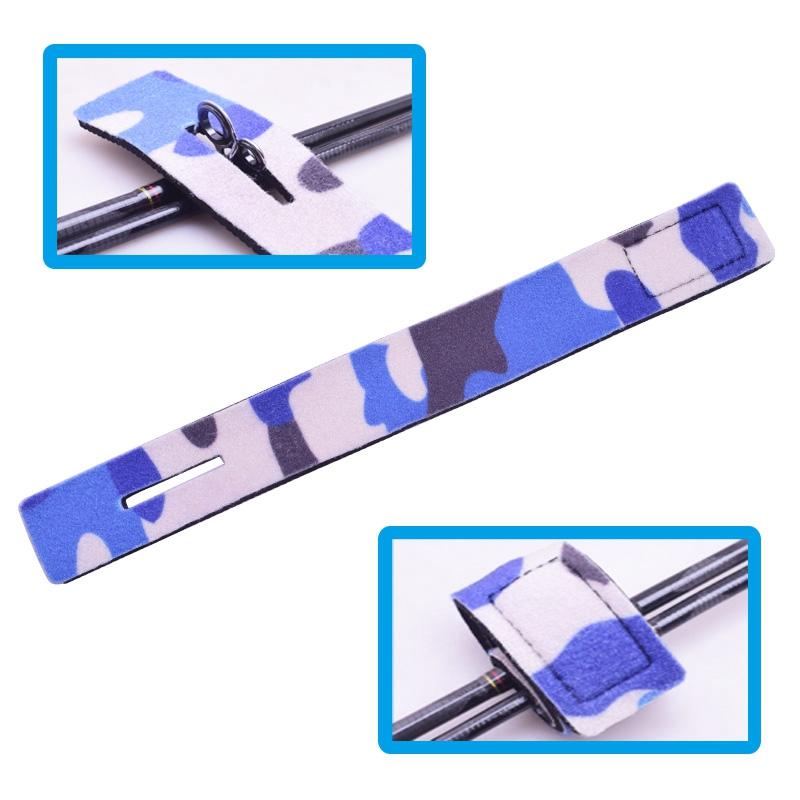 Reusable-Fishing-Rod-Tie-Holder-Strap-Suspenders-Rod-Belt-Hook-Loop-Cable-T-P2Z7 miniatuur 6