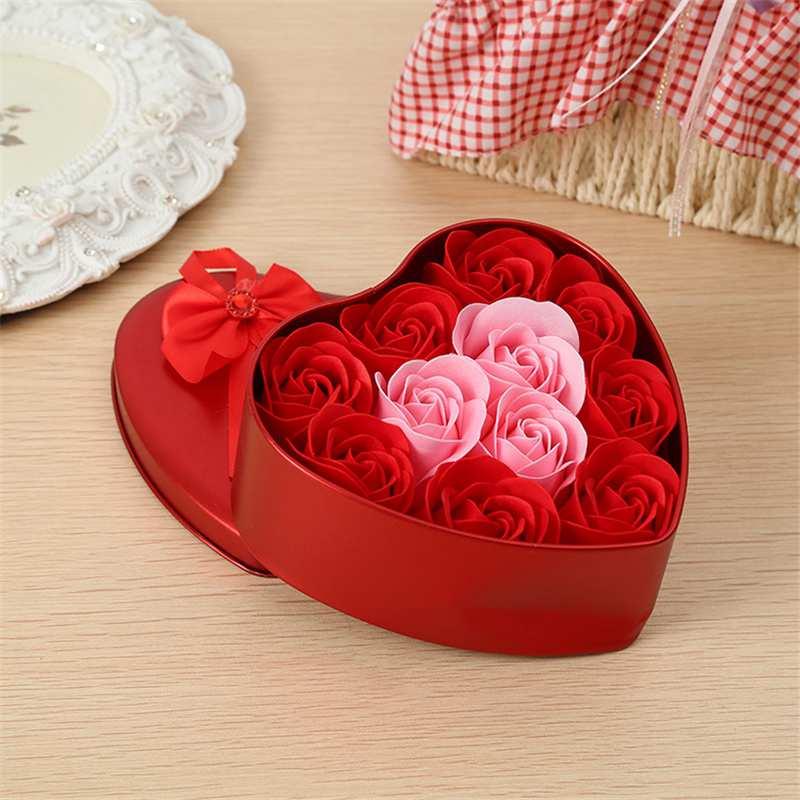 11-Piezas-Caja-Jabon-Rosa-Flor-Artificial-Decoracion-De-La-Boda-Diy-En-For-4M4 miniatura 4