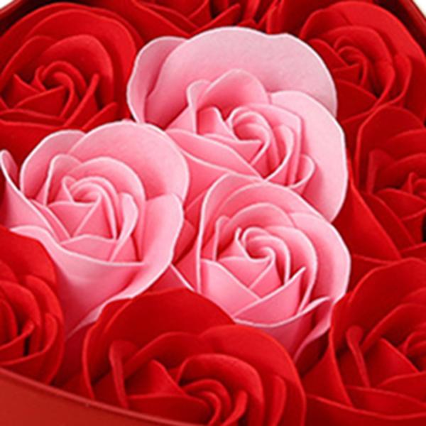 11-Piezas-Caja-Jabon-Rosa-Flor-Artificial-Decoracion-De-La-Boda-Diy-En-For-4M4 miniatura 7