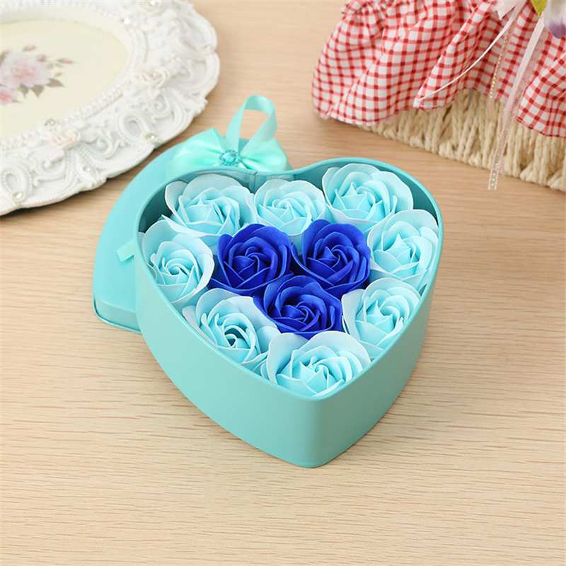 11-Piezas-Caja-Jabon-Rosa-Flor-Artificial-Decoracion-De-La-Boda-Diy-En-For-4M4 miniatura 10