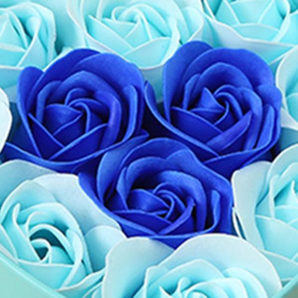 11-Piezas-Caja-Jabon-Rosa-Flor-Artificial-Decoracion-De-La-Boda-Diy-En-For-4M4 miniatura 13