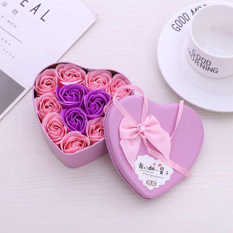 11-Piezas-Caja-Jabon-Rosa-Flor-Artificial-Decoracion-De-La-Boda-Diy-En-For-4M4 miniatura 15