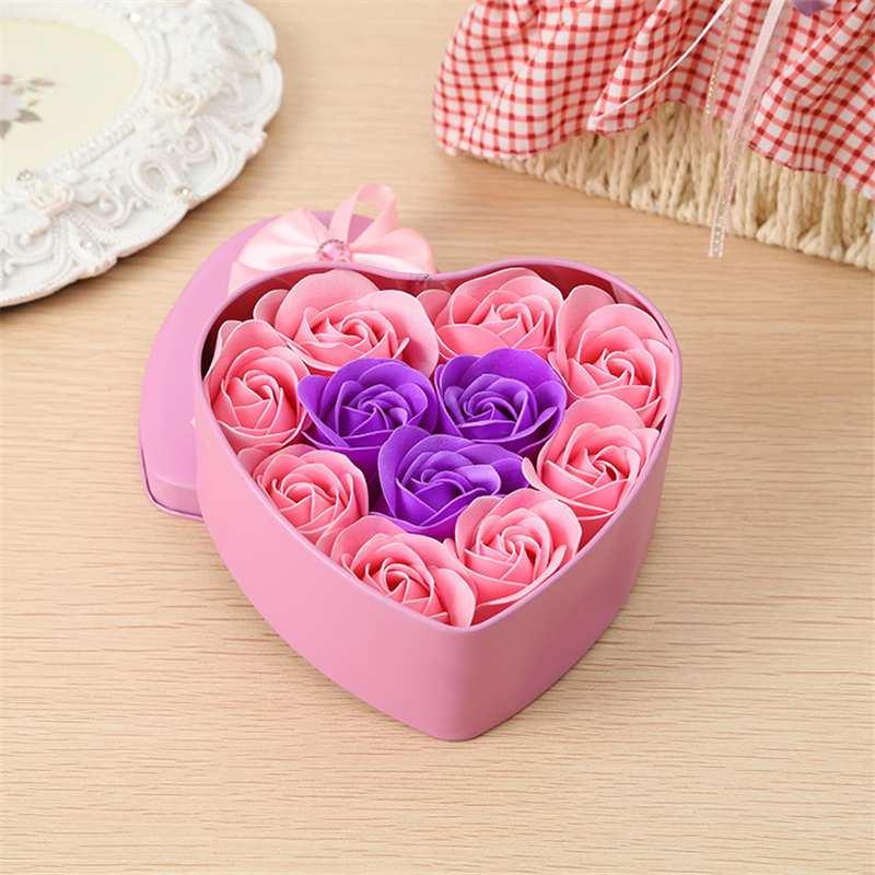 11-Piezas-Caja-Jabon-Rosa-Flor-Artificial-Decoracion-De-La-Boda-Diy-En-For-4M4 miniatura 16