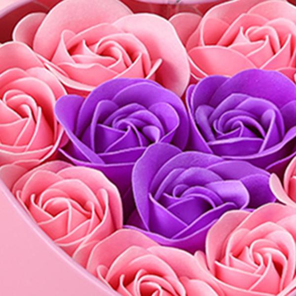 11-Piezas-Caja-Jabon-Rosa-Flor-Artificial-Decoracion-De-La-Boda-Diy-En-For-4M4 miniatura 19
