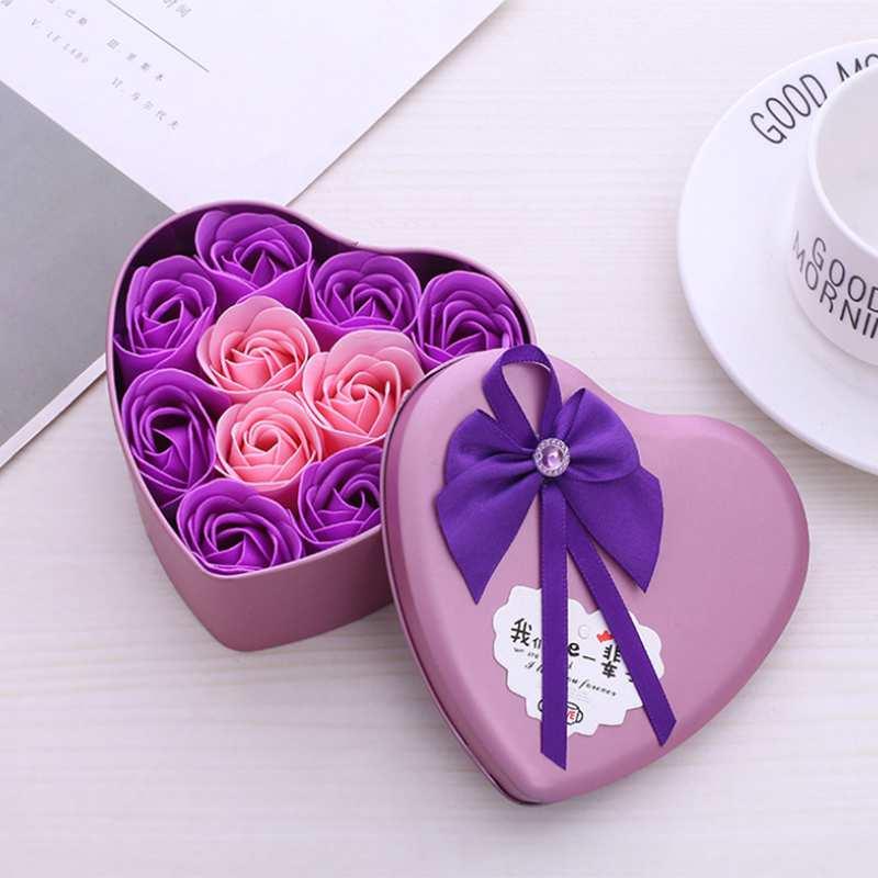 11-Piezas-Caja-Jabon-Rosa-Flor-Artificial-Decoracion-De-La-Boda-Diy-En-For-4M4 miniatura 21