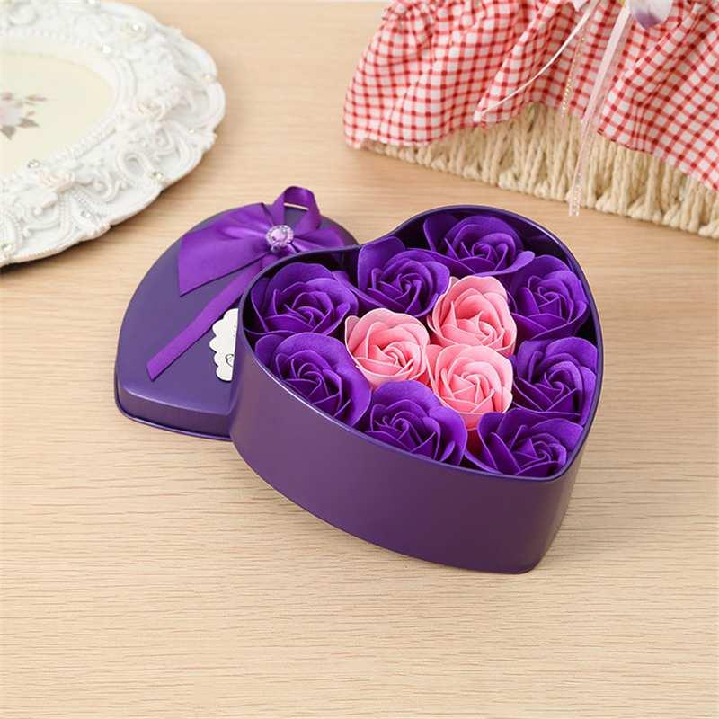 11-Piezas-Caja-Jabon-Rosa-Flor-Artificial-Decoracion-De-La-Boda-Diy-En-For-4M4 miniatura 22